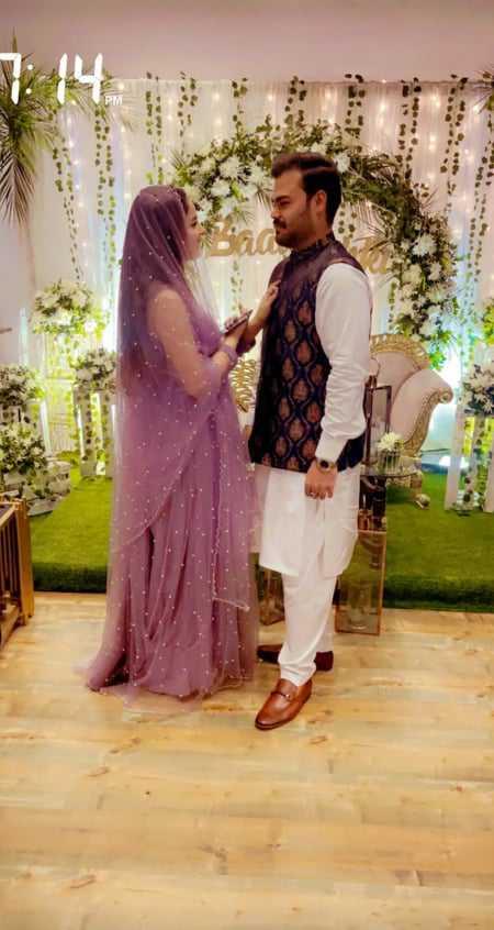 Sukaina Khan with husband