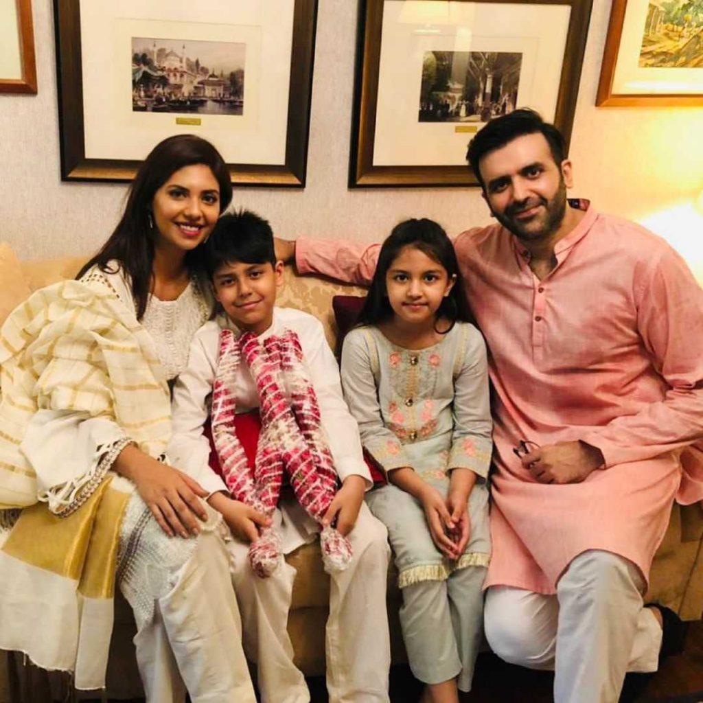 Sunita Marshall as Saba with her family