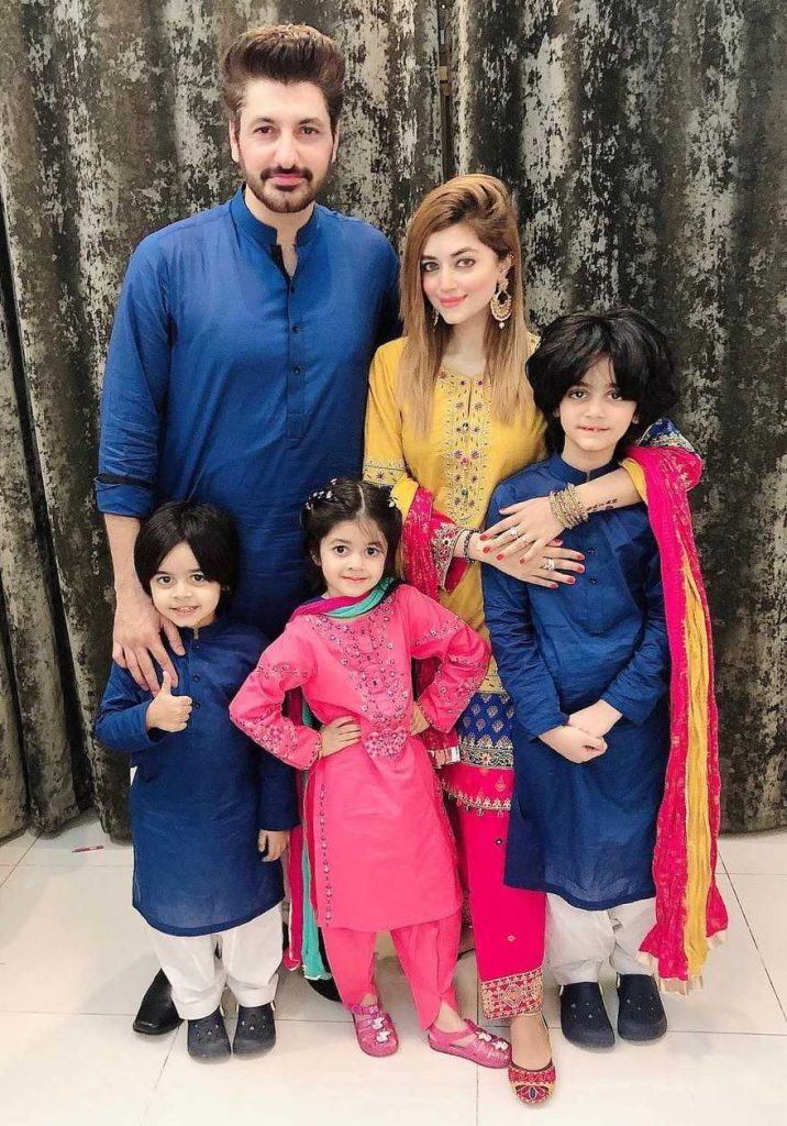 Syed Jibran with wife and kids