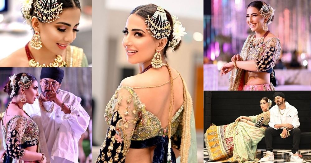 Ushna Shah Looks Very Bold In Her BTS Pictures From RDB's Song Kangna