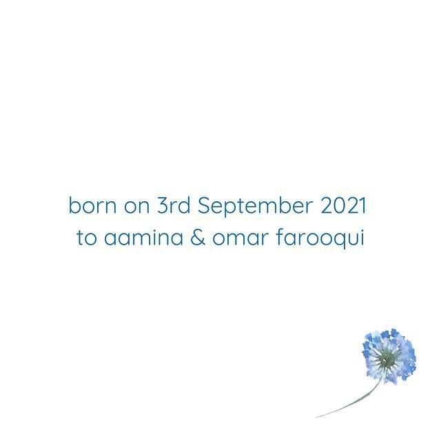 aamina sheikh son was born on 3 september 2021