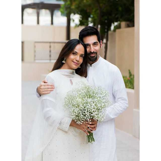 aamina sheikh with her 2nd husbnad omer farooqui