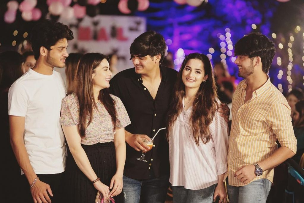 aiman khan with her family