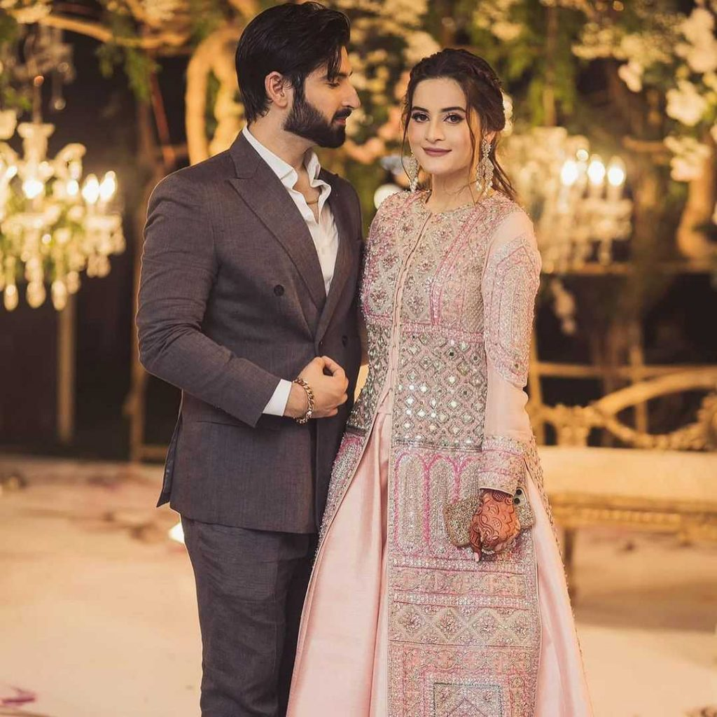 muneeb butt with his wife aiman khan