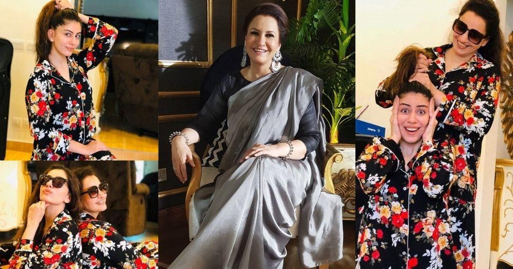 Beautiful Pictures of Saba Faisal with Her Daughter Sadia Faisal