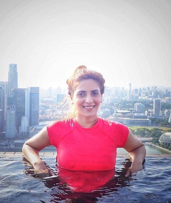 Taking bath in Singapore