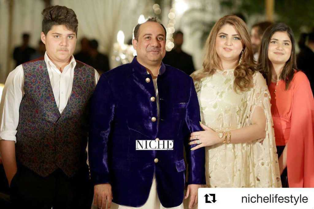 Family Pictures of Rahat Fateh Ali Khan