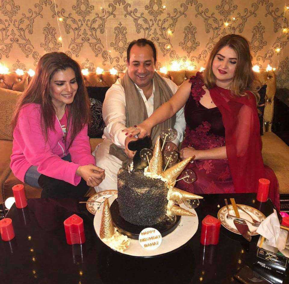 Rahat Fateh Ali Khan wife with actress Resham