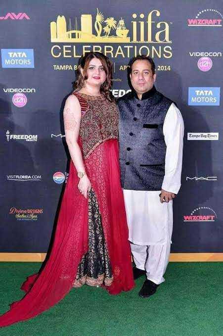 Rahat Fateh Ali Khan with his wife Nida Rahat