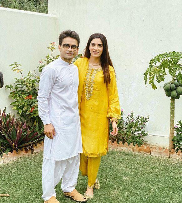 With Husband Shahzeb Khanzada